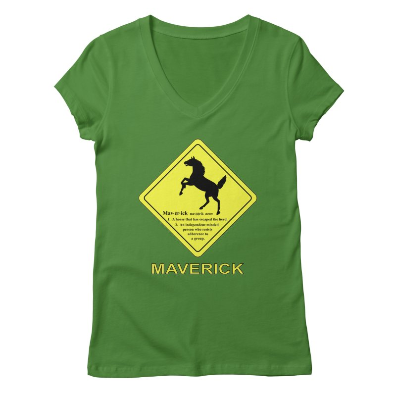 MAVERICK Women's V-Neck by CAT IN ORBIT Artist Shop