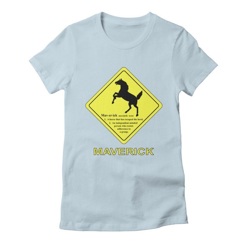 MAVERICK Women's Fitted T-Shirt by CAT IN ORBIT Artist Shop