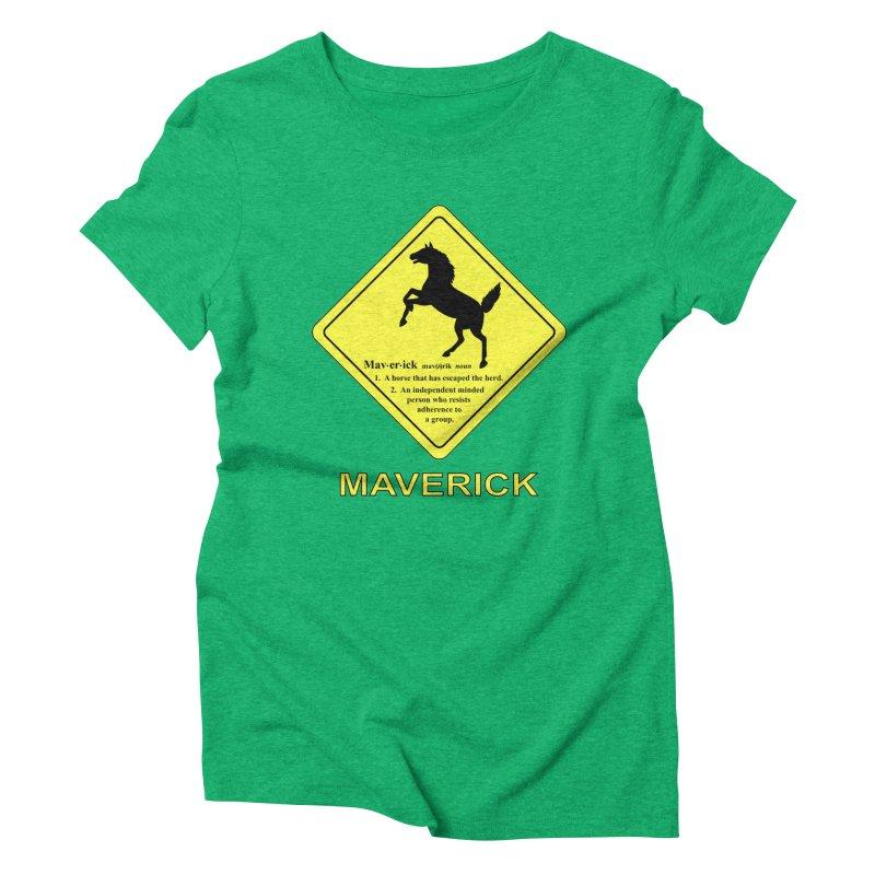MAVERICK Women's Triblend T-Shirt by CAT IN ORBIT Artist Shop