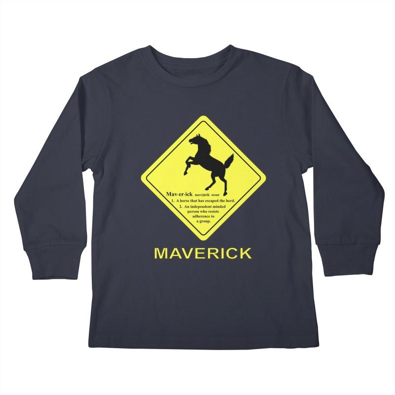 MAVERICK Kids Longsleeve T-Shirt by CAT IN ORBIT Artist Shop