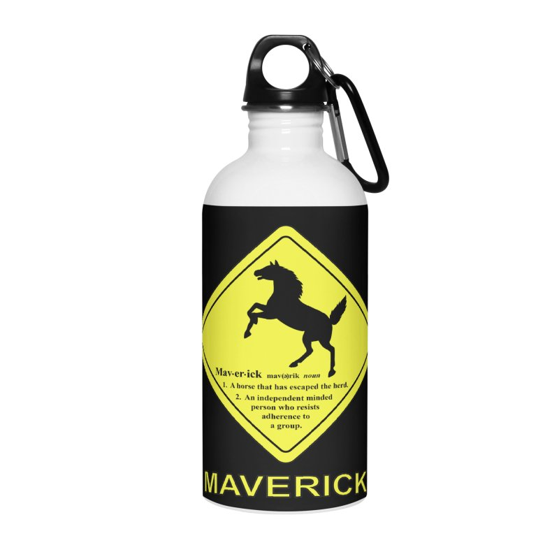 MAVERICK Accessories Water Bottle by CAT IN ORBIT Artist Shop