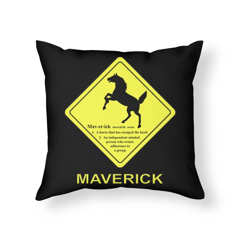 MAVERICK Home Throw Pillow by CAT IN ORBIT Artist Shop