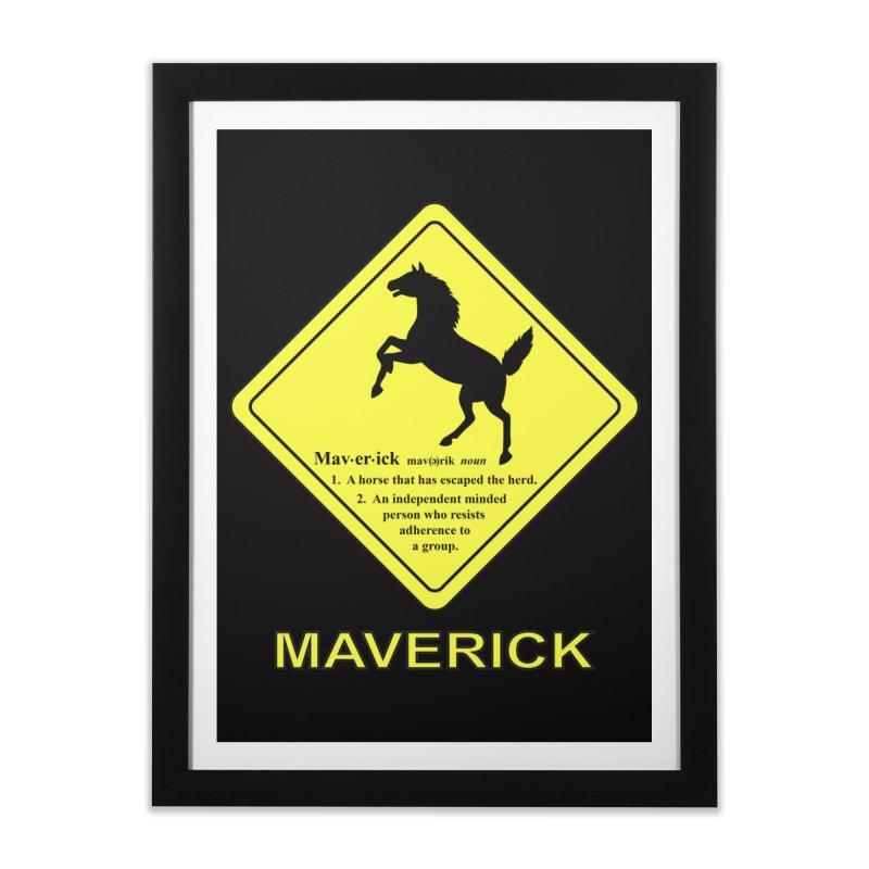 MAVERICK Home Framed Fine Art Print by CAT IN ORBIT Artist Shop