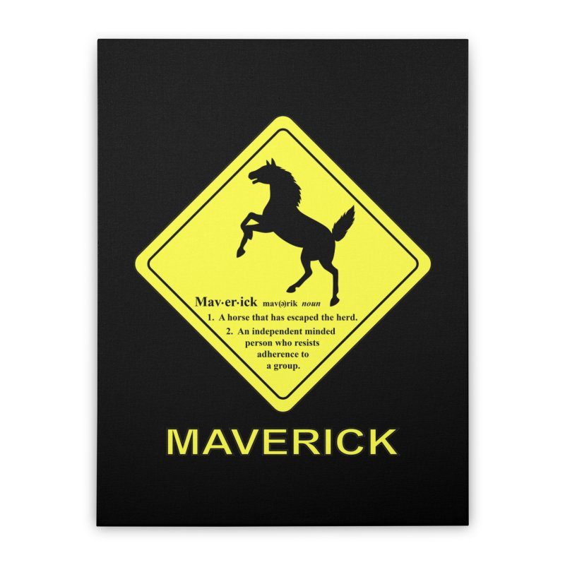 MAVERICK Home Stretched Canvas by CAT IN ORBIT Artist Shop