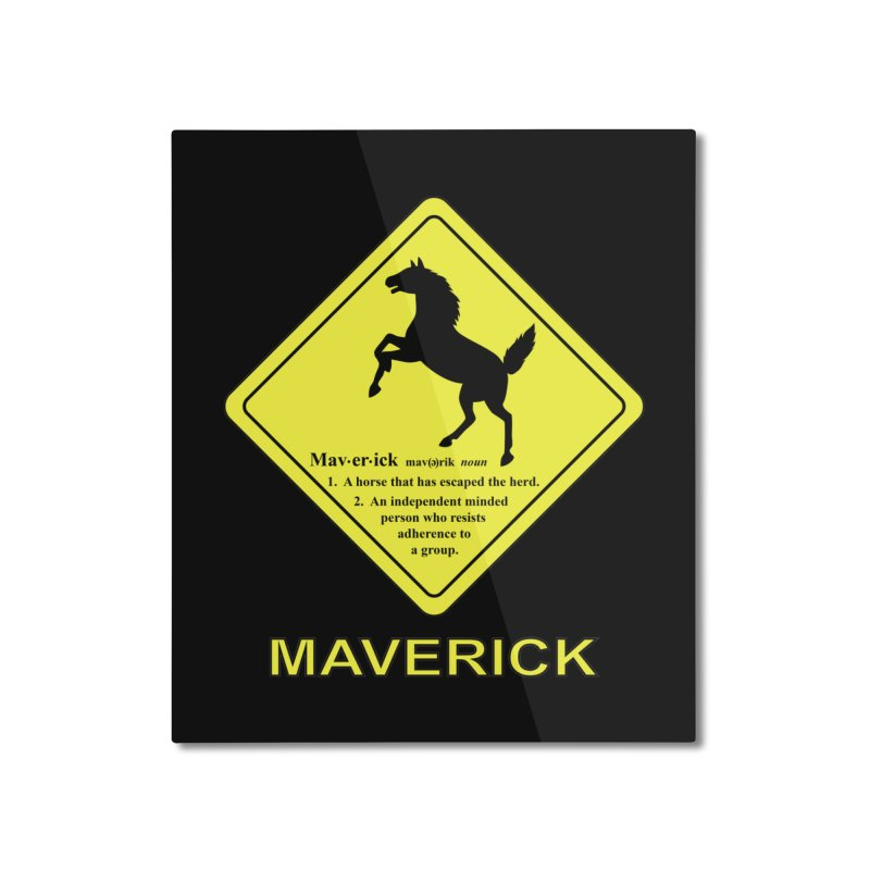 MAVERICK Home Mounted Aluminum Print by CAT IN ORBIT Artist Shop