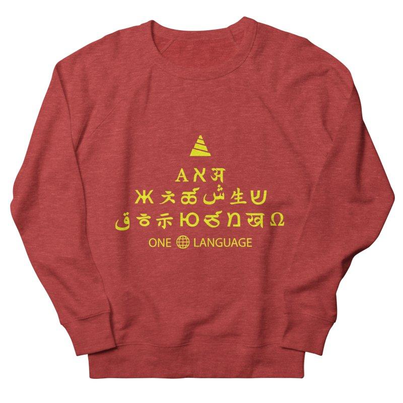 ONE WORLD LANGUAGE Men's French Terry Sweatshirt by CAT IN ORBIT Artist Shop