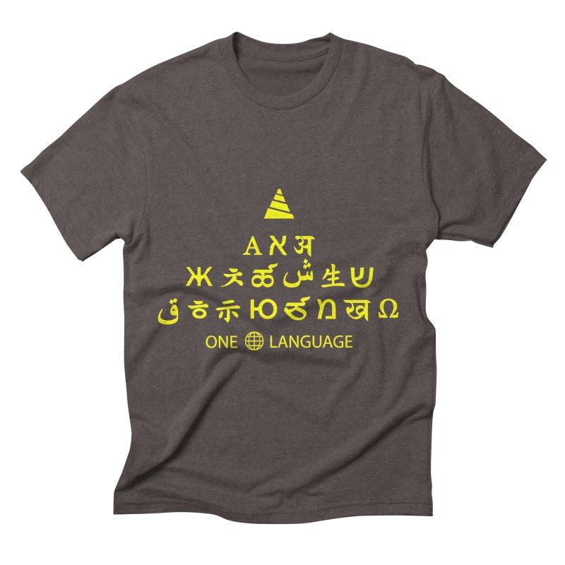 ONE WORLD LANGUAGE Men's Triblend T-Shirt by CAT IN ORBIT Artist Shop
