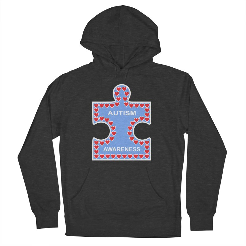 AUTISM AWARENESS Women's French Terry Pullover Hoody by CAT IN ORBIT Artist Shop