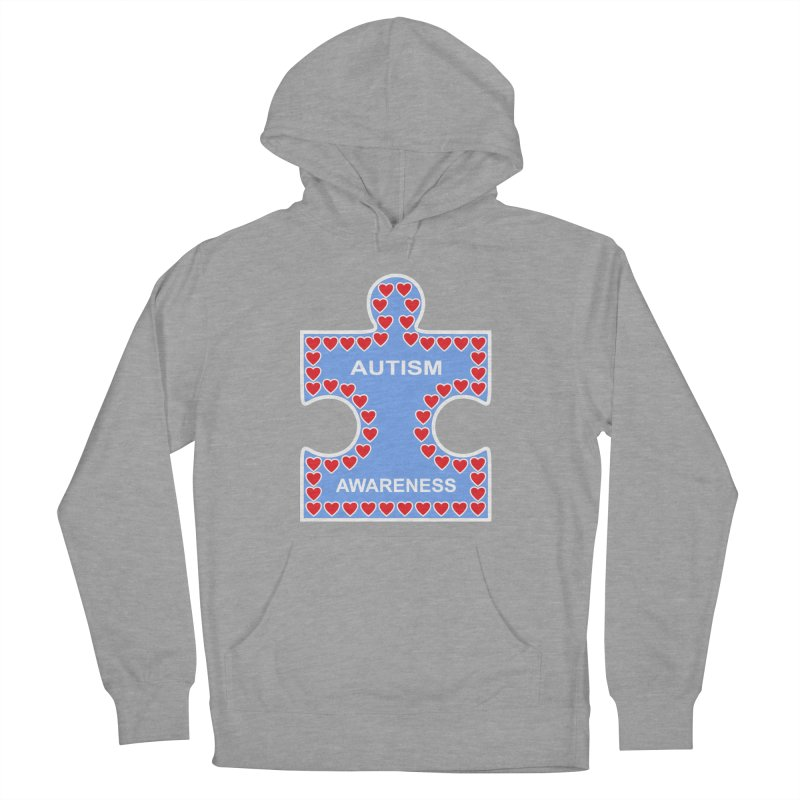 AUTISM AWARENESS Men's French Terry Pullover Hoody by CAT IN ORBIT Artist Shop
