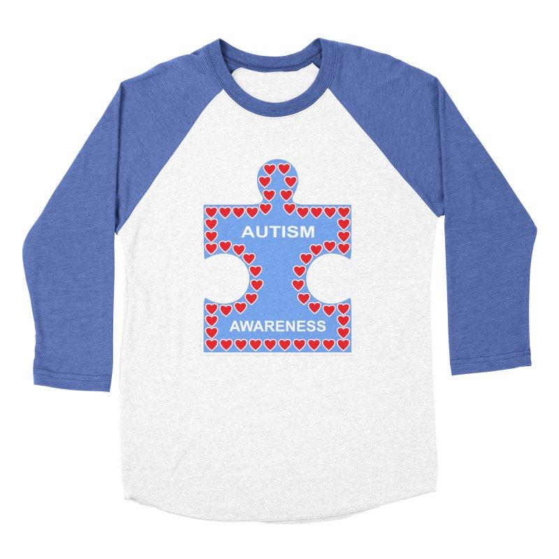 AUTISM AWARENESS Women's Baseball Triblend Longsleeve T-Shirt by CAT IN ORBIT Artist Shop