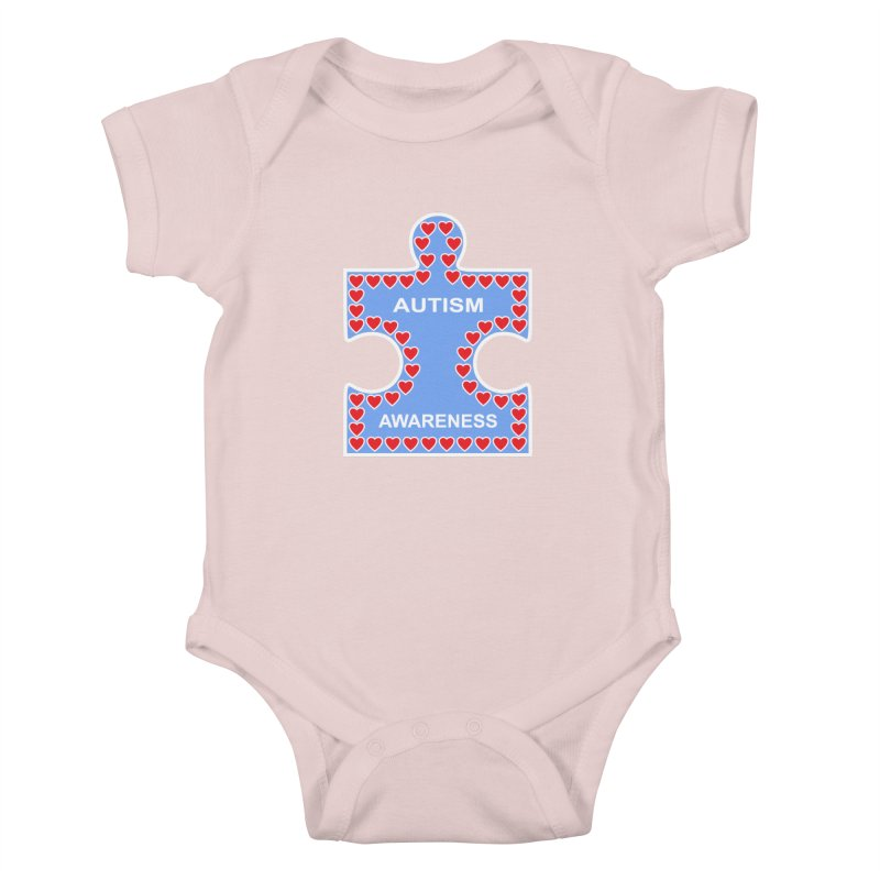 AUTISM AWARENESS Kids Baby Bodysuit by CAT IN ORBIT Artist Shop
