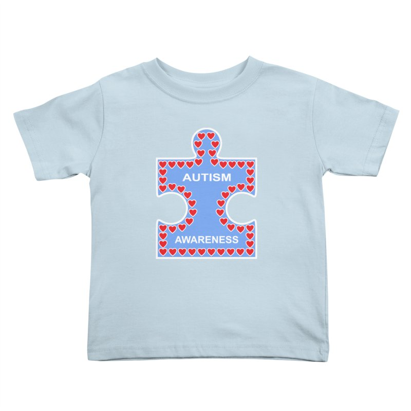 AUTISM AWARENESS Kids Toddler T-Shirt by CAT IN ORBIT Artist Shop
