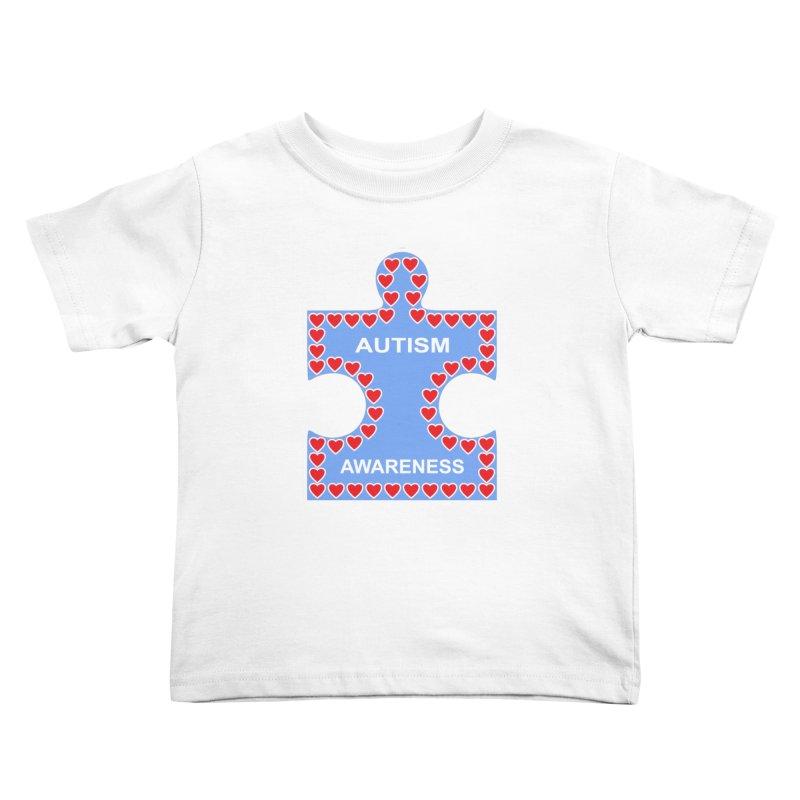 AUTISM AWARENESS Kids Toddler T-Shirt by CAT IN ORBIT Artist Shop