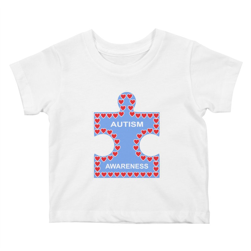 AUTISM AWARENESS Kids Baby T-Shirt by CAT IN ORBIT Artist Shop