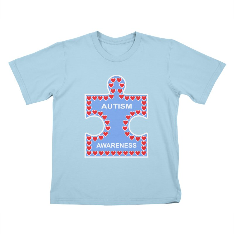 AUTISM AWARENESS Kids T-Shirt by CAT IN ORBIT Artist Shop