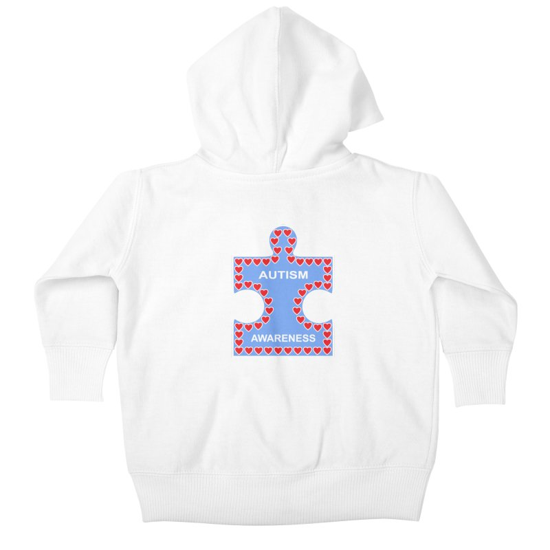 AUTISM AWARENESS Kids Baby Zip-Up Hoody by CAT IN ORBIT Artist Shop