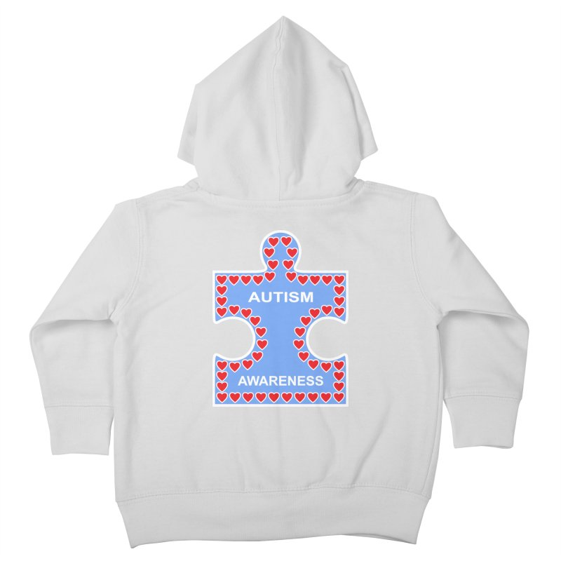 AUTISM AWARENESS Kids Toddler Zip-Up Hoody by CAT IN ORBIT Artist Shop