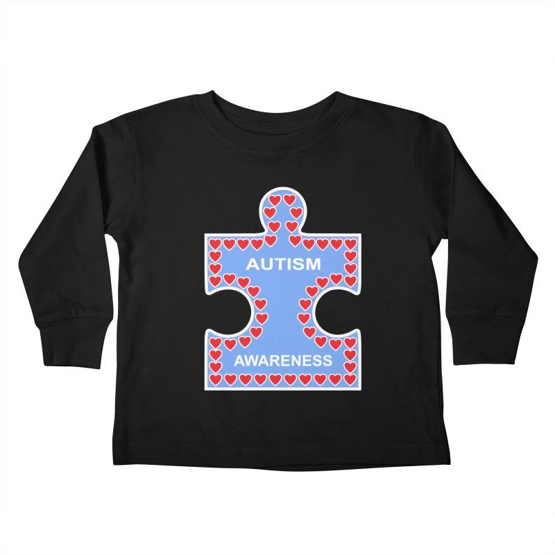 AUTISM AWARENESS Kids Toddler Longsleeve T-Shirt by CAT IN ORBIT Artist Shop
