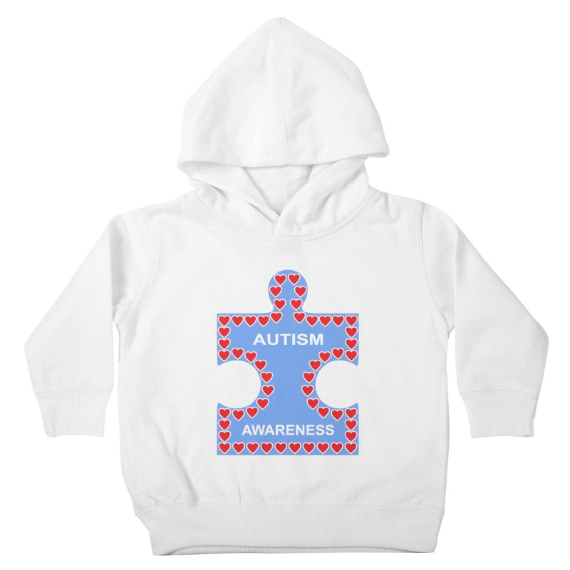 AUTISM AWARENESS Kids Toddler Pullover Hoody by CAT IN ORBIT Artist Shop