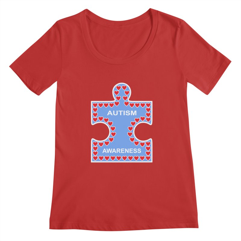 AUTISM AWARENESS Women's Scoopneck by CAT IN ORBIT Artist Shop