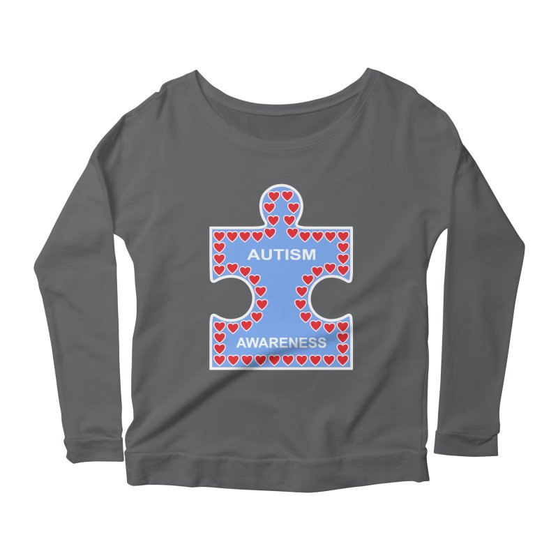 AUTISM AWARENESS Women's Longsleeve Scoopneck  by CAT IN ORBIT Artist Shop