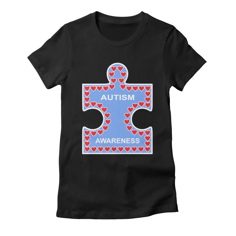 AUTISM AWARENESS Women's Fitted T-Shirt by CAT IN ORBIT Artist Shop