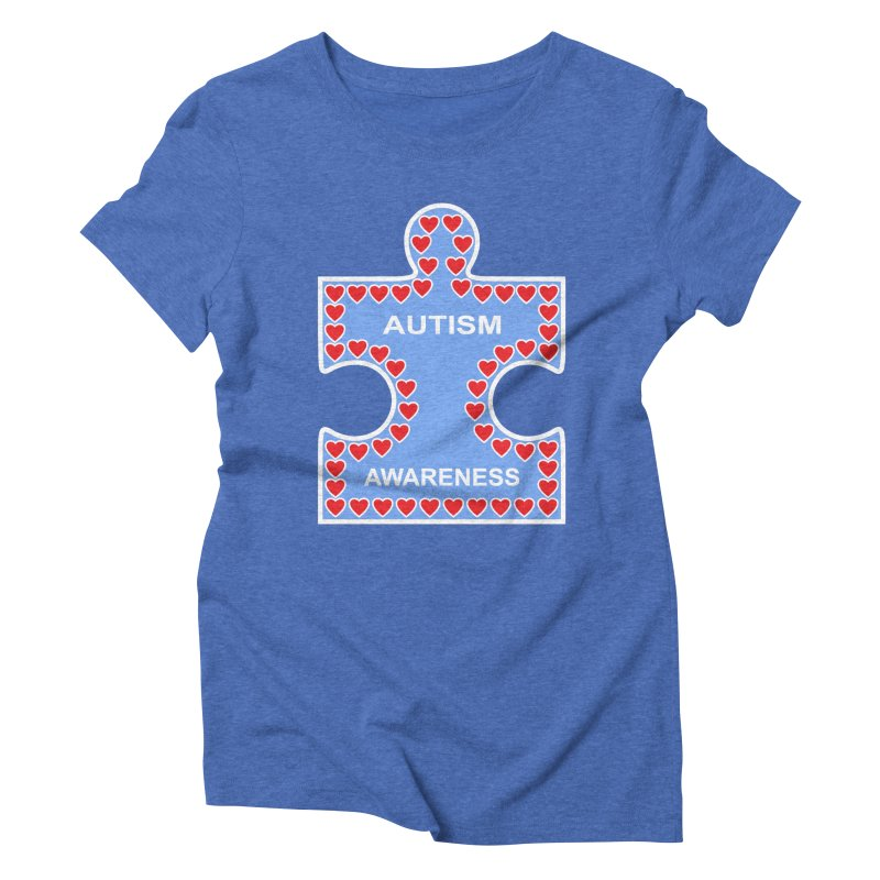AUTISM AWARENESS Women's Triblend T-Shirt by CAT IN ORBIT Artist Shop