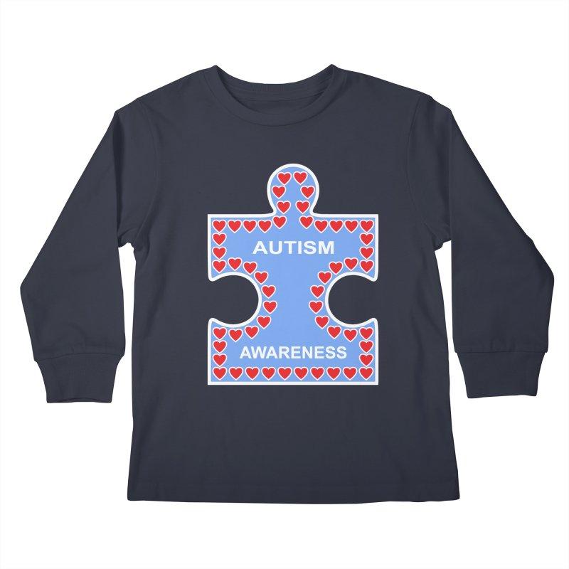 AUTISM AWARENESS Kids Longsleeve T-Shirt by CAT IN ORBIT Artist Shop