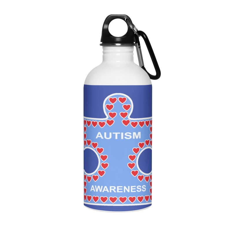 AUTISM AWARENESS Accessories Water Bottle by CAT IN ORBIT Artist Shop
