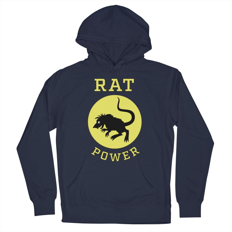 RAT POWER Women's French Terry Pullover Hoody by CAT IN ORBIT Artist Shop