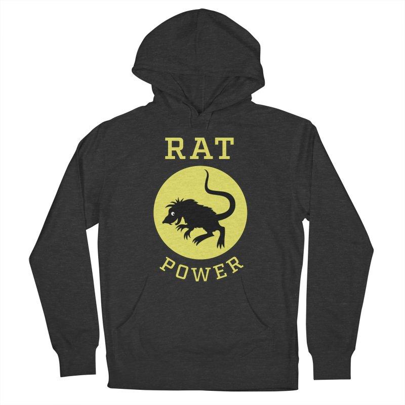 RAT POWER Men's French Terry Pullover Hoody by CAT IN ORBIT Artist Shop