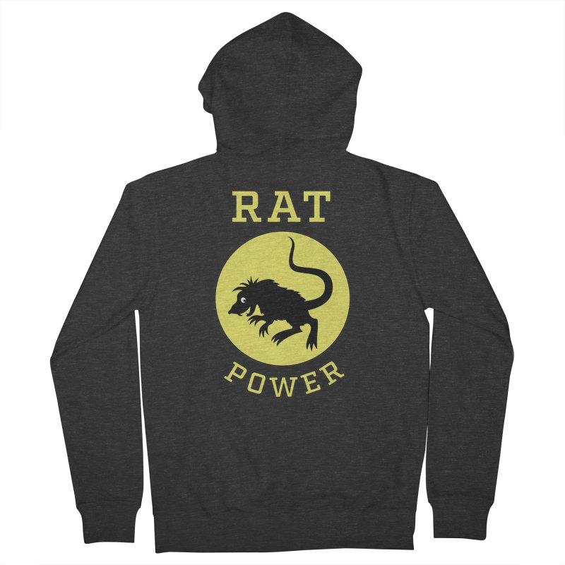 RAT POWER Women's Zip-Up Hoody by CAT IN ORBIT Artist Shop