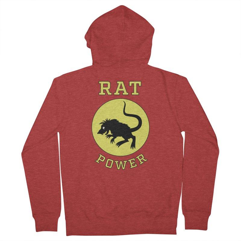 RAT POWER Men's French Terry Zip-Up Hoody by CAT IN ORBIT Artist Shop