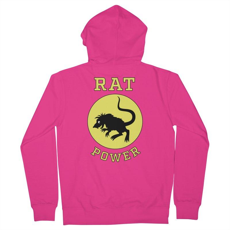 RAT POWER Men's Zip-Up Hoody by CAT IN ORBIT Artist Shop