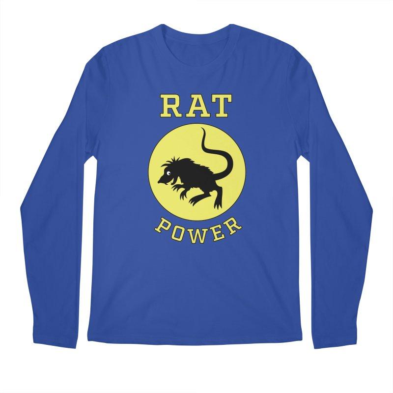 RAT POWER Men's Regular Longsleeve T-Shirt by CAT IN ORBIT Artist Shop