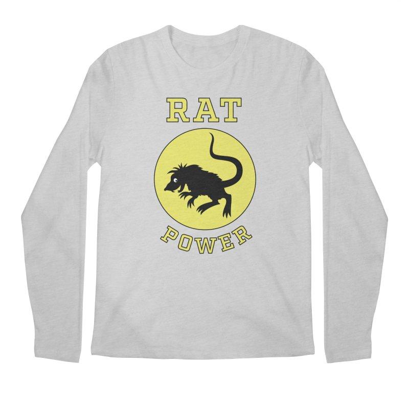 RAT POWER Men's Longsleeve T-Shirt by CAT IN ORBIT Artist Shop