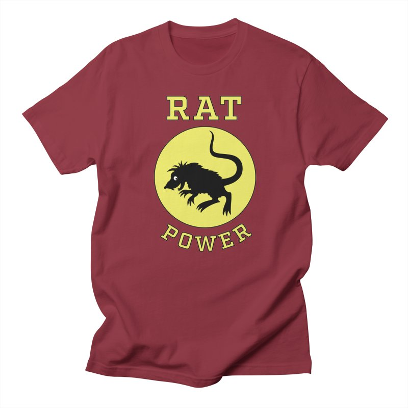 RAT POWER Men's Regular T-Shirt by CAT IN ORBIT Artist Shop