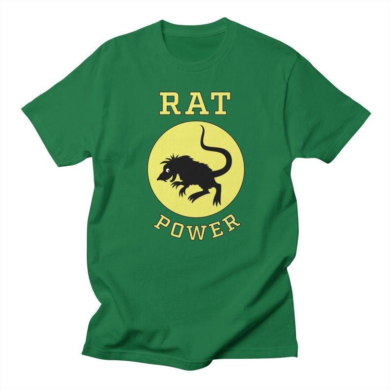 RAT POWER Men's T-Shirt by CAT IN ORBIT Artist Shop