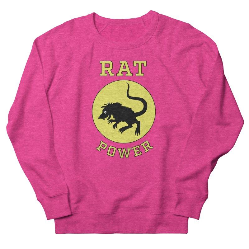 RAT POWER Women's French Terry Sweatshirt by CAT IN ORBIT Artist Shop