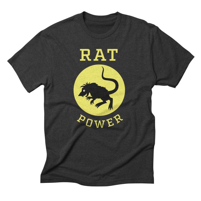 RAT POWER Men's Triblend T-Shirt by CAT IN ORBIT Artist Shop