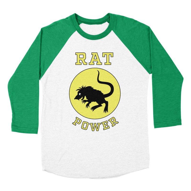 RAT POWER Women's Baseball Triblend Longsleeve T-Shirt by CAT IN ORBIT Artist Shop