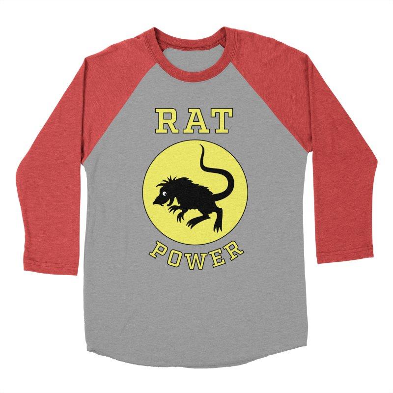 RAT POWER Men's Baseball Triblend Longsleeve T-Shirt by CAT IN ORBIT Artist Shop