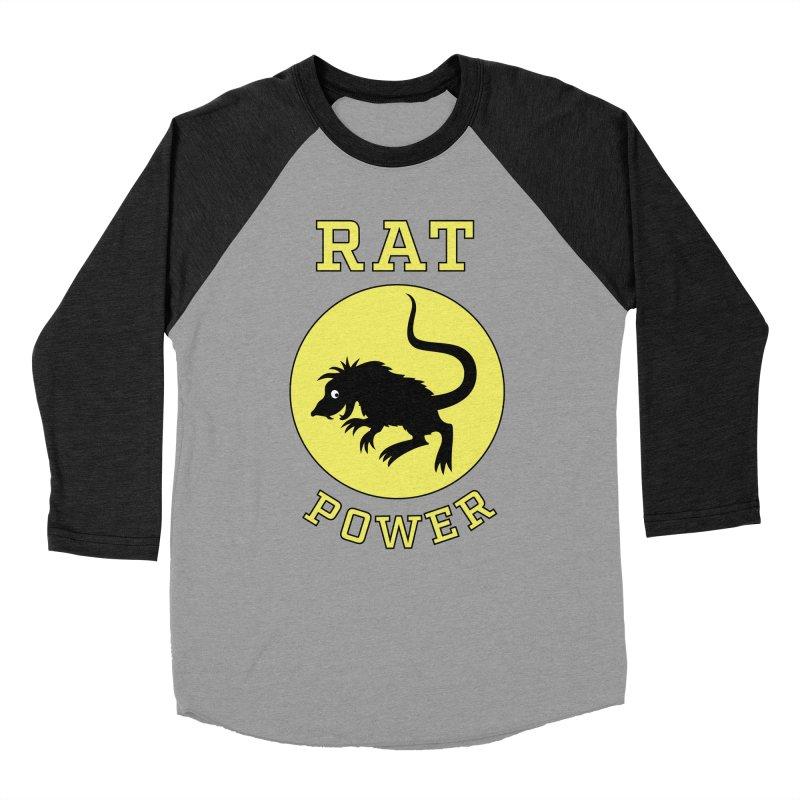 RAT POWER Men's Baseball Triblend T-Shirt by CAT IN ORBIT Artist Shop