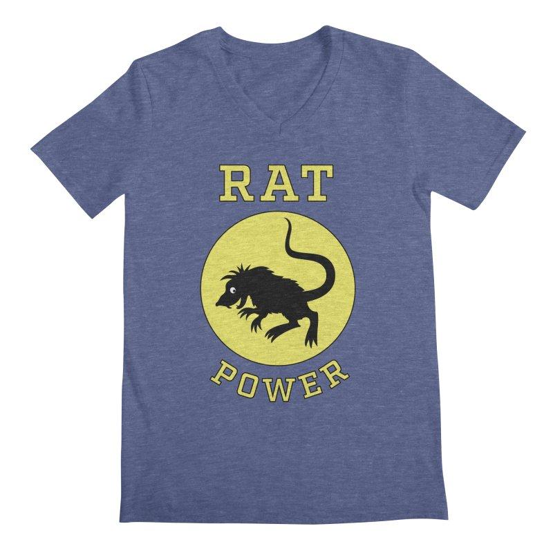 RAT POWER Men's V-Neck by CAT IN ORBIT Artist Shop