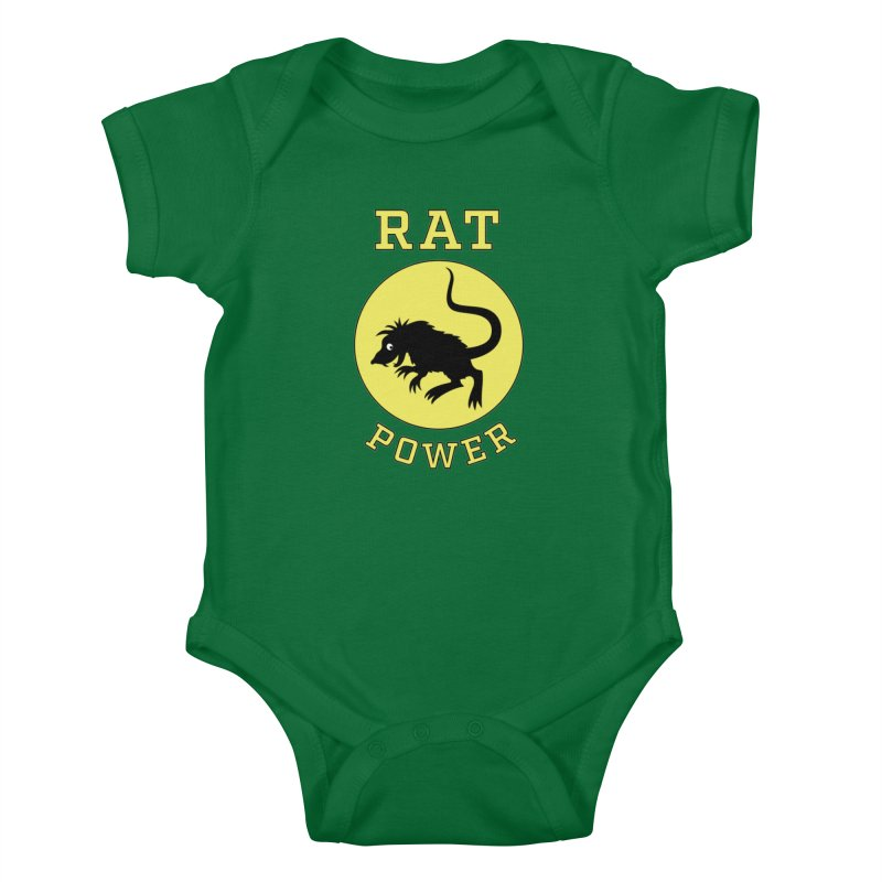 RAT POWER Kids Baby Bodysuit by CAT IN ORBIT Artist Shop