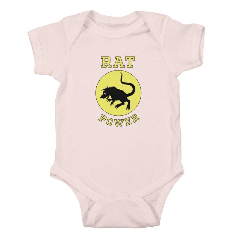RAT POWER Kids Baby Bodysuit by CAT IN ORBIT Artist Shop