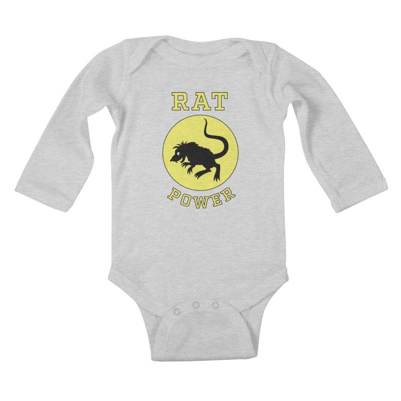 RAT POWER Kids Baby Longsleeve Bodysuit by CAT IN ORBIT Artist Shop