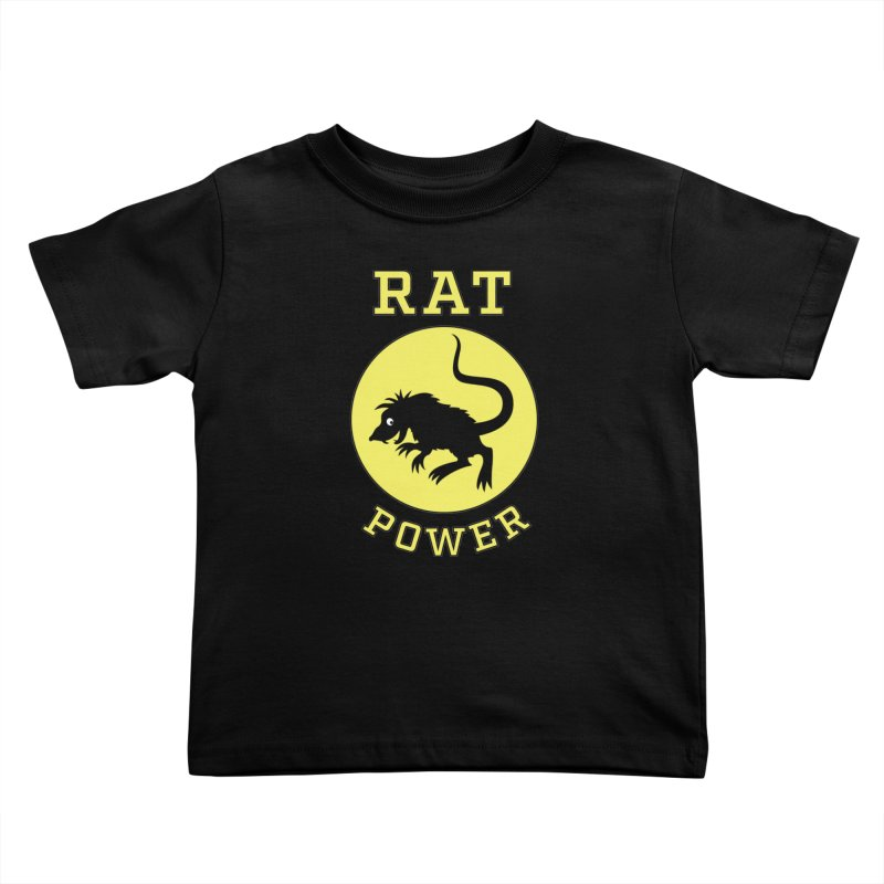 RAT POWER Kids Toddler T-Shirt by CAT IN ORBIT Artist Shop