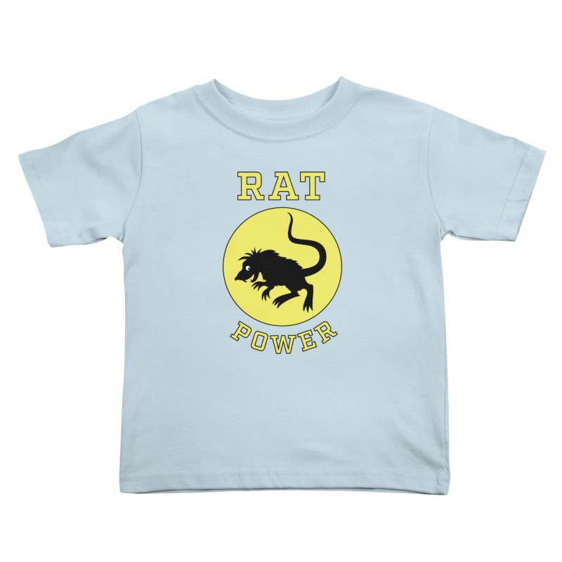 RAT POWER Kids Toddler T-Shirt by CAT IN ORBIT Artist Shop