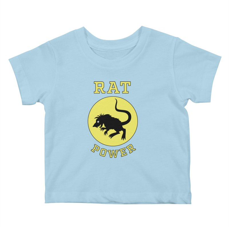 RAT POWER Kids Baby T-Shirt by CAT IN ORBIT Artist Shop